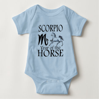 Año del escorpión de zodiaco del caballo polera