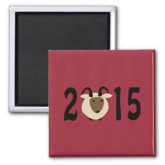 Año del espolón 2015 imán cuadrado