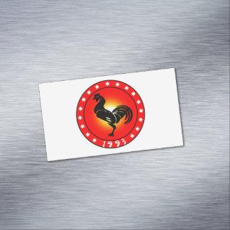 Año del gallo 1993 tarjetas de visita magnéticas (paquete de 25)