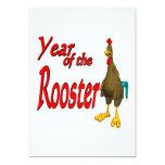 Año del gallo invitación 12,7 x 17,8 cm