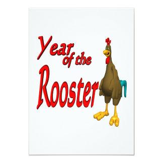 """Año del gallo invitación 5"""" x 7"""""""