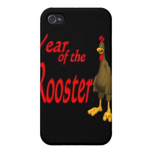 Año del gallo iPhone 4/4S fundas