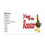 Año del gallo tarjetas personales