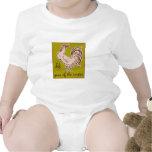 Año del gallo traje de bebé