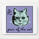 Año del gato alfombrilla de ratones