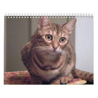 Año del gato de Bengala Calendarios