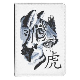 Año del gato grande del tigre funda de kindle