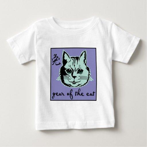 Año del gato playera de bebé