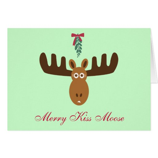 ¡Año del Gnu de Moose_Happy del beso de Head_Merry Tarjetón