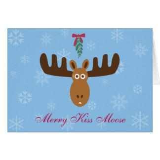 ¡Año del Gnu de Moose_Happy del beso de Head_Merry Tarjetas
