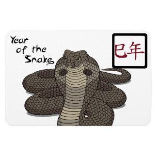 Año del imán flexible de la serpiente
