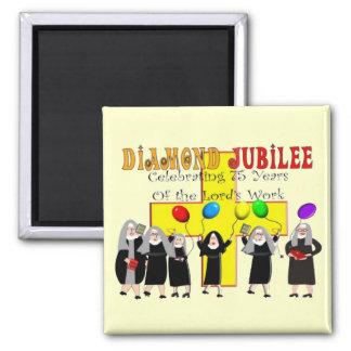 Año del jubileo de diamante de las monjas 75.o de  imán cuadrado