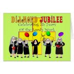 Año del jubileo de diamante de las monjas 75.o de  felicitacion