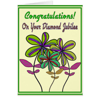 Año del jubileo de diamante de las monjas 75.o de tarjeta de felicitación