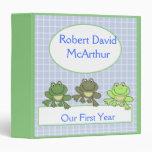 Año del libro de recuerdos del bebé del Froggy de