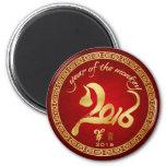Año del mono 2016 - Año Nuevo lunar chino Imán Redondo 5 Cm