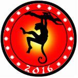 Año del mono 2016 esculturas fotograficas