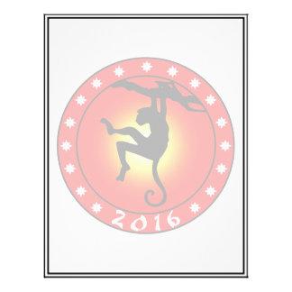 Año del mono 2016 tarjetas publicitarias