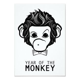 """año del mono (bowtie) invitación 3.5"""" x 5"""""""