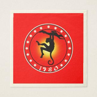 Año del mono el an o 80 servilletas de papel