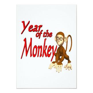 """Año del mono invitación 5"""" x 7"""""""