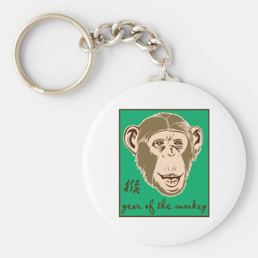 Año del mono llaveros personalizados