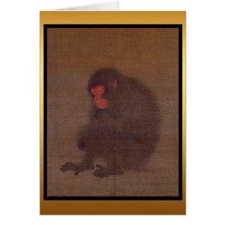 Año del mono - pintura china - tarjeta de