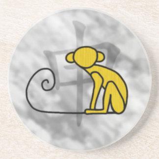Año del mono posavasos personalizados