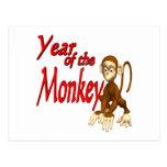 Año del mono tarjeta postal