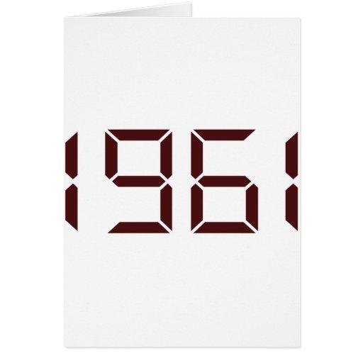 Año del nacimiento - 1961 - cumpleaños tarjeta