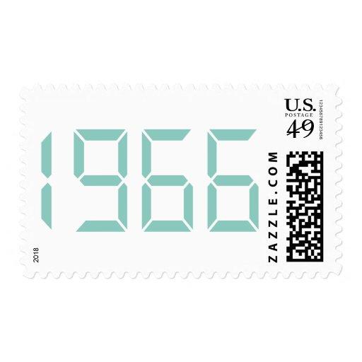 Año del nacimiento - 1966 - cumpleaños franqueo