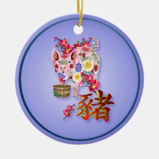 Año del ornamento del cerdo ornamentos de reyes magos