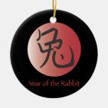 Año del ornamento del conejo - parte posterior del adorno para reyes