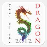 Año del pegatina 2012 del dragón