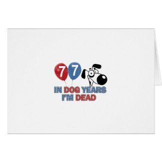 año del perro de 77 años tarjeta de felicitación