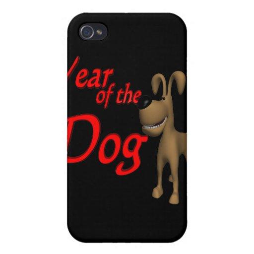 Año del perro iPhone 4 carcasa