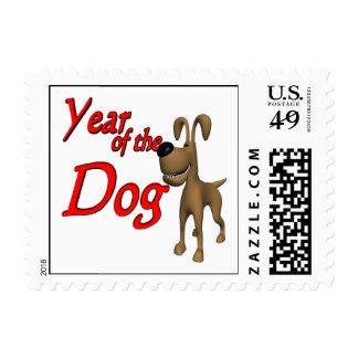 Año del perro franqueo