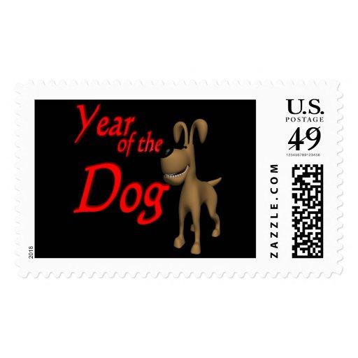 Año del perro timbre postal
