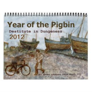 Año del Pigbin 2012 Calendarios