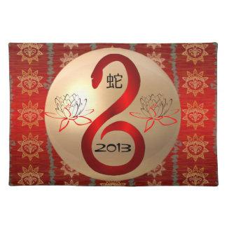 Año del placemat 2013 de la serpiente mantel