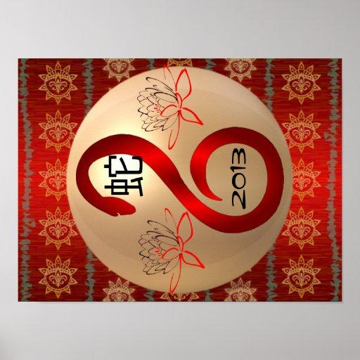 Año del poster 2013 de la serpiente