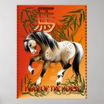 Año del poster del caballo