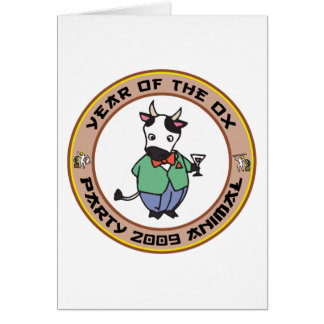 Año del regalo del buey tarjeton