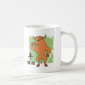 Año del regalo del buey tazas de café