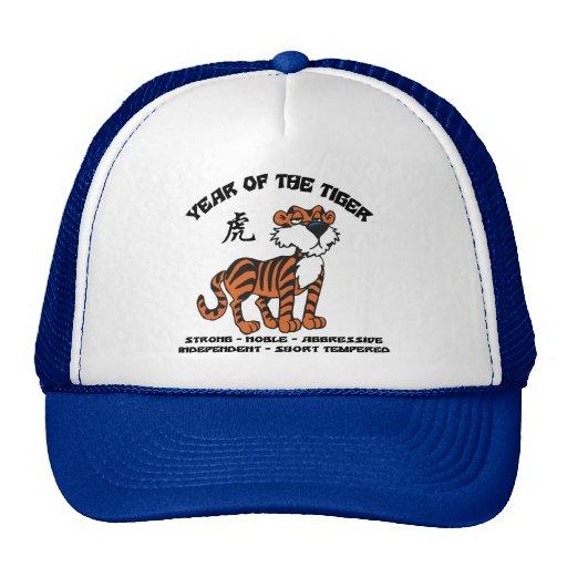 Año del regalo del zodiaco del tigre gorras