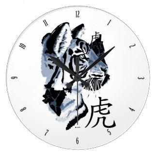 Año del reloj de pared del tigre