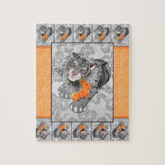 Año del rompecabezas del tigre del conejo con la