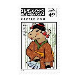 Año del sello del geisha del buey
