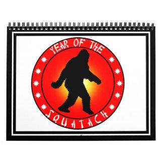 Año del Squatch Calendario De Pared
