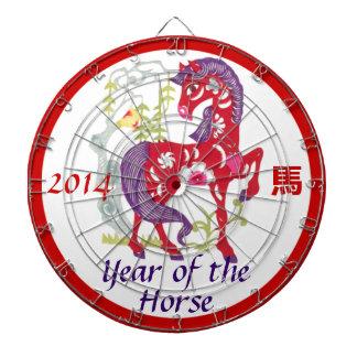 Año del tablero de dardo del caballo tablero de dardos